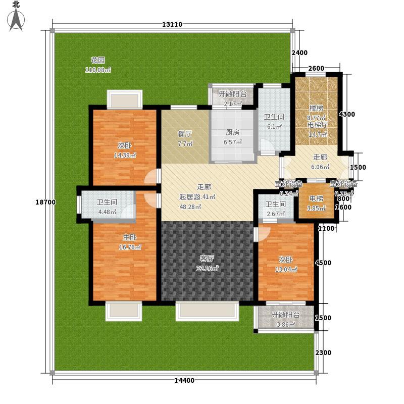 宝陆御园151.00㎡5号西户型3室2厅