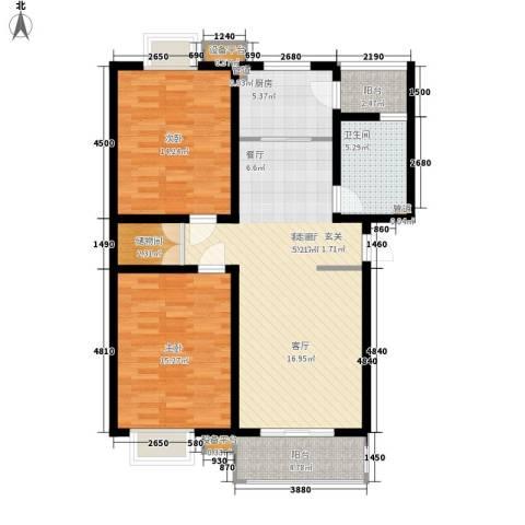 山川文苑二期2室1厅1卫1厨99.00㎡户型图