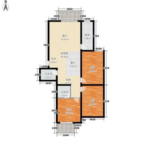 月亮湾3室0厅2卫1厨171.00㎡户型图