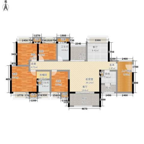 中信凯旋城4室0厅2卫1厨140.00㎡户型图