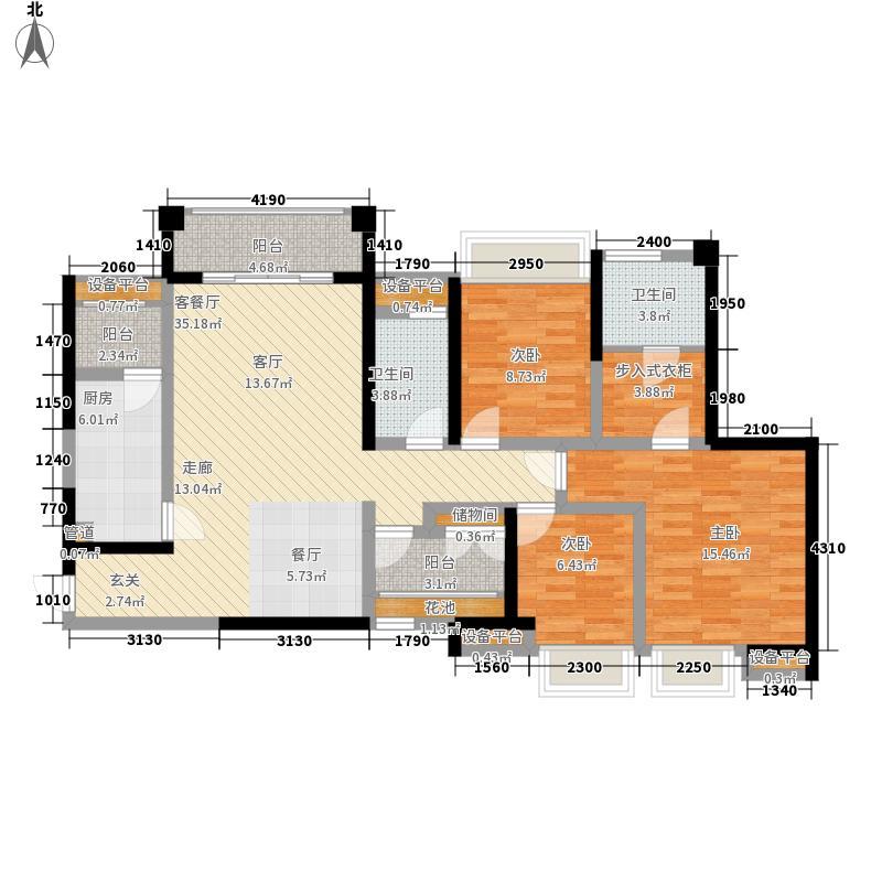 ICON尚郡132.00㎡一期1号楼标准层D1户型