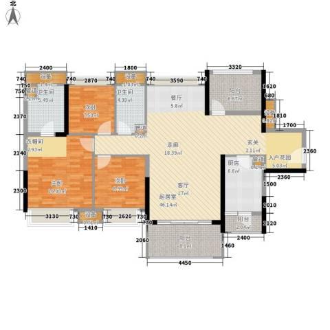 中信凯旋城3室0厅2卫1厨138.00㎡户型图