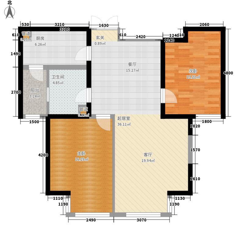 水岸公馆116.05㎡6号楼四面积11605m户型