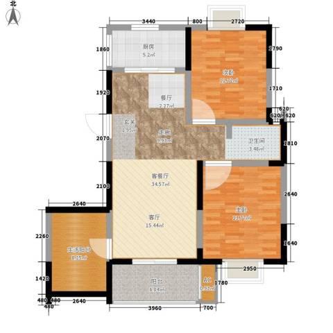 怡水花园2室1厅0卫1厨93.00㎡户型图