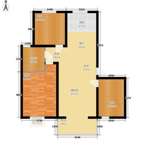 幸福.佳苑3室0厅1卫0厨131.00㎡户型图