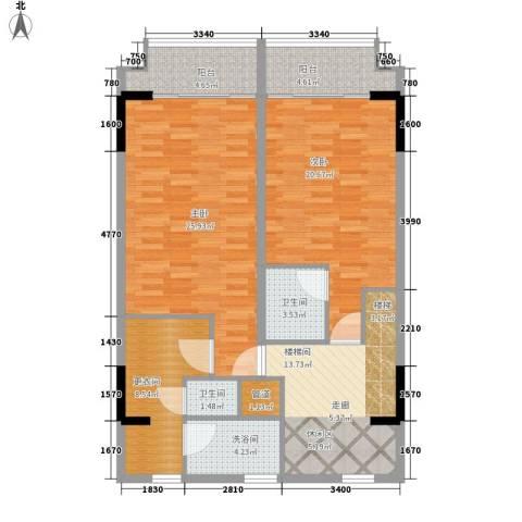 漕湖之星2室0厅2卫0厨100.00㎡户型图