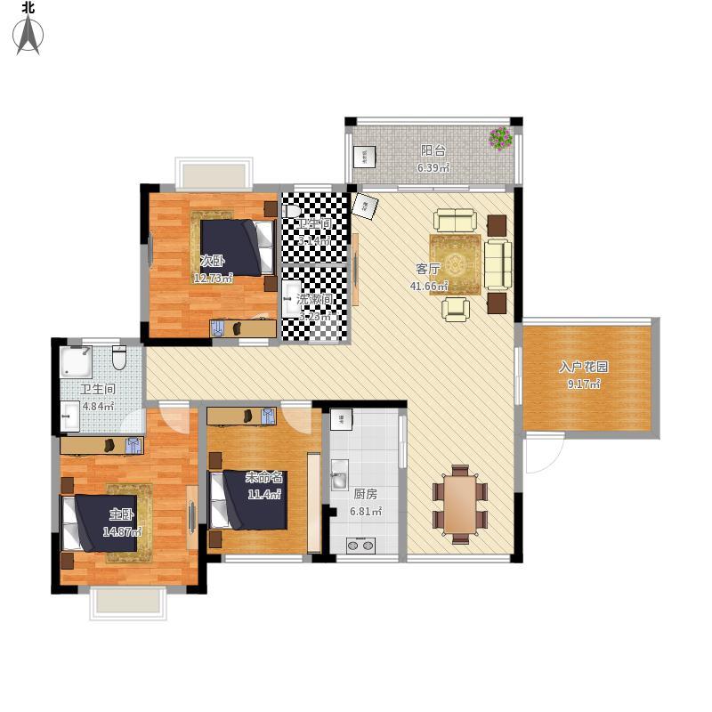 富丽城B6栋户型图----设计方案