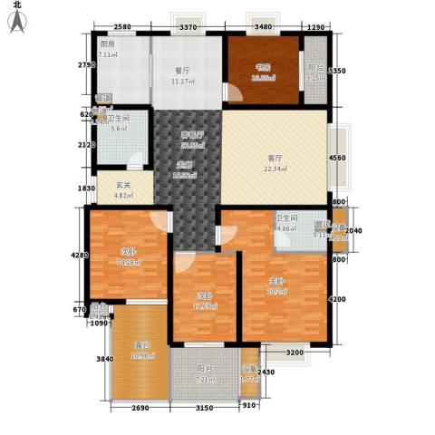 蓝城百合花园4室1厅2卫1厨171.00㎡户型图
