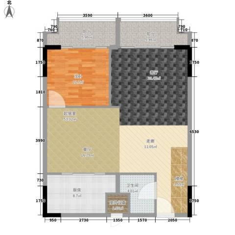漕湖之星1室0厅1卫1厨100.00㎡户型图