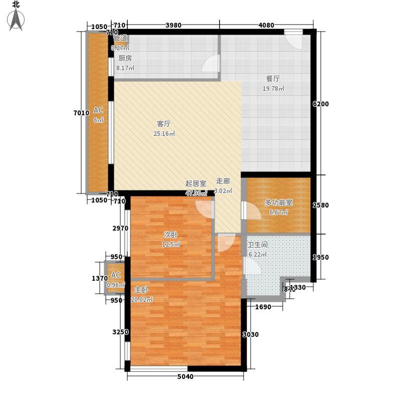 凤凰城公寓121.00㎡面积12100m户型