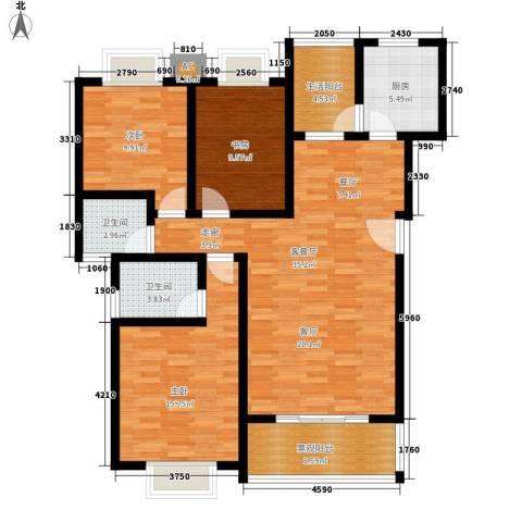 御景东方3室1厅2卫1厨112.00㎡户型图