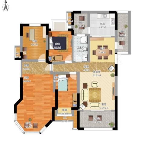 中南世纪城4室1厅1卫1厨119.00㎡户型图