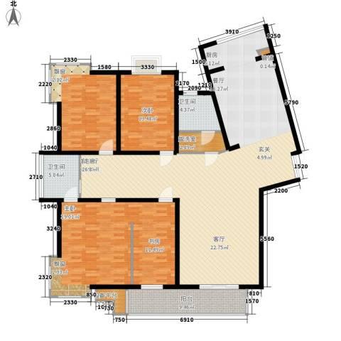 名人国际 TOP世界观3室1厅2卫0厨220.00㎡户型图