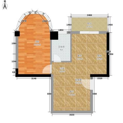 金榜名苑1室0厅1卫0厨61.00㎡户型图