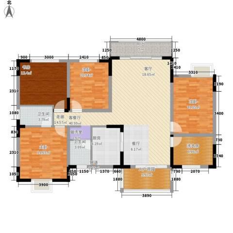 君临天厦4室1厅2卫1厨175.00㎡户型图
