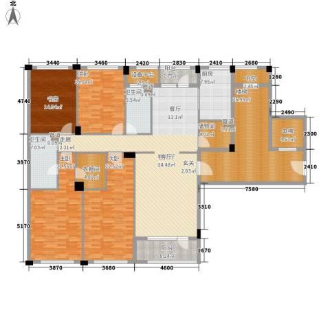 绿城慈溪玫瑰园4室1厅2卫1厨198.72㎡户型图