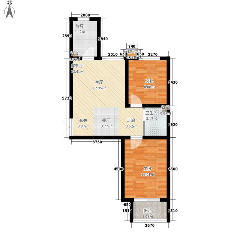 维多利亚夏郡92.00㎡三期22号楼B1户型
