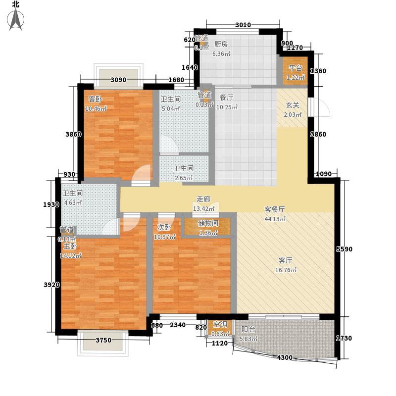 越湖名邸122.00㎡二期公寓C2户型