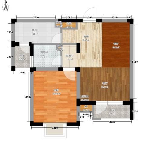 娱苑新村1室0厅1卫1厨53.00㎡户型图
