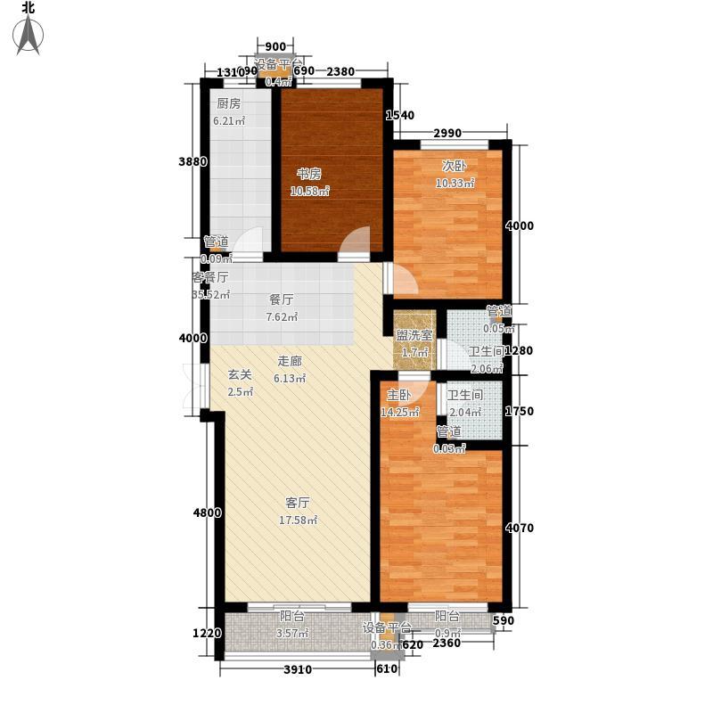 维多利亚夏郡137.10㎡已售完三期21号楼B`户型