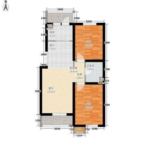 天和湾2室0厅1卫1厨93.00㎡户型图
