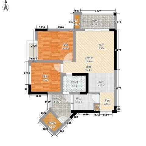 康德城市风云2室0厅1卫1厨63.00㎡户型图