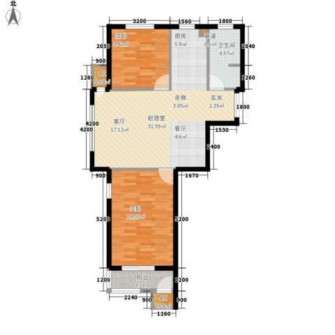 桃源东湾2室0厅1卫0厨85.00㎡户型图
