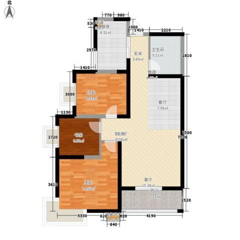 领先尊域3室1厅1卫1厨112.00㎡户型图