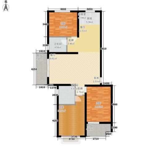 幸福.佳苑3室0厅2卫0厨156.00㎡户型图