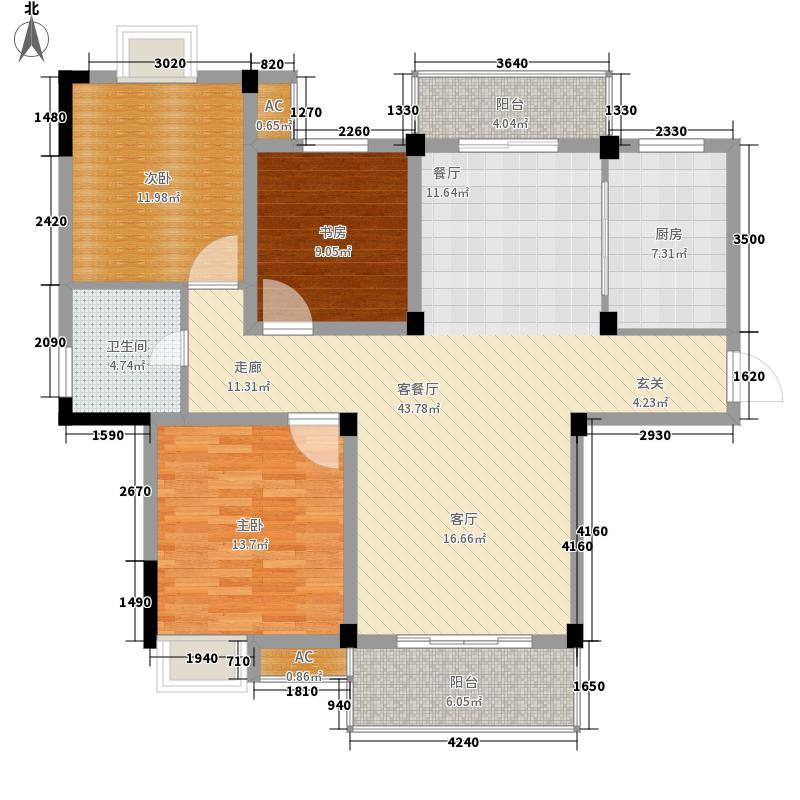 祥生柏景湾115.69㎡一期E户型3室2厅