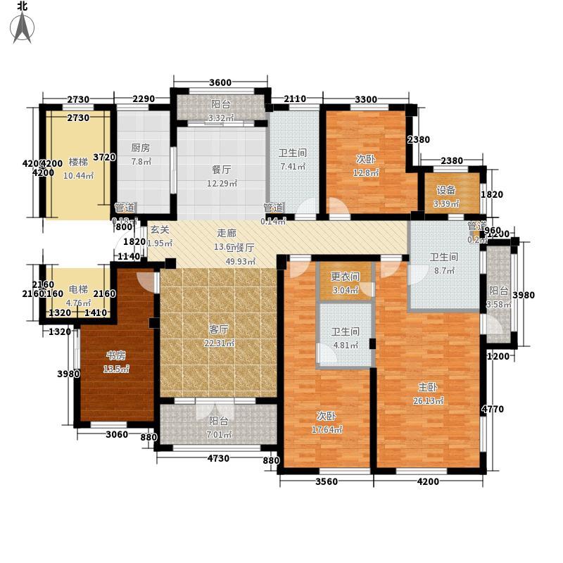 绿城西子・田园牧歌208.00㎡揽翠苑4-C1户型4室2厅3卫