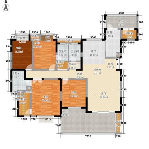 南苑小区4室0厅3卫1厨203.00㎡户型图