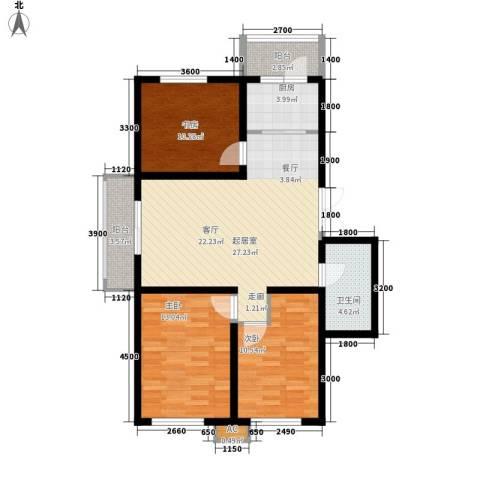 天和湾3室0厅1卫1厨110.00㎡户型图