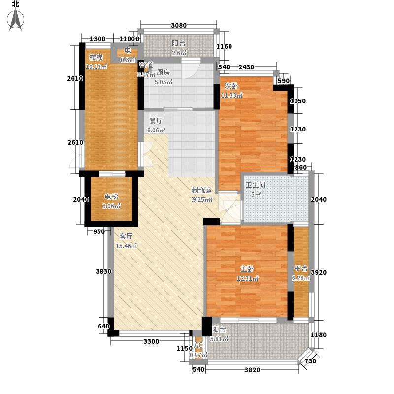 天台中央花园103.00㎡户型