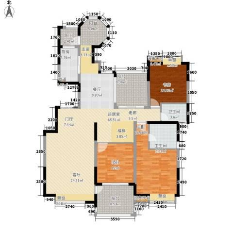 中海国际社区3室0厅2卫1厨163.00㎡户型图