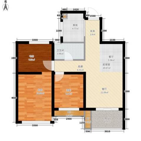 锦绣花园2室0厅1卫1厨102.00㎡户型图