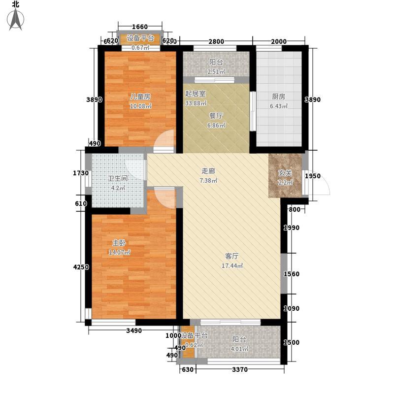 贻成豪庭114.00㎡高层标准层K1户型
