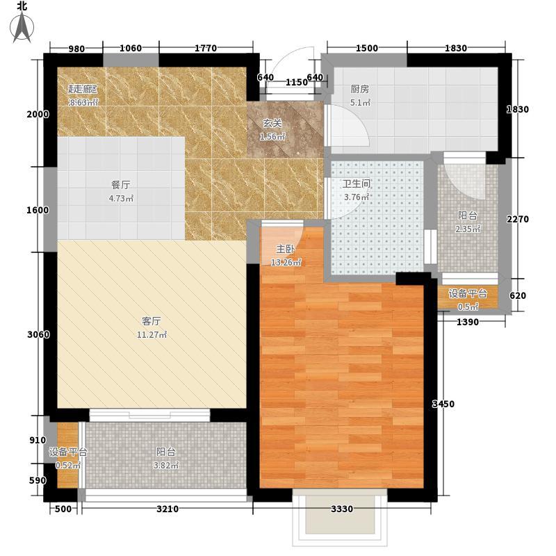 贻成豪庭80.00㎡高层标准层K2户型