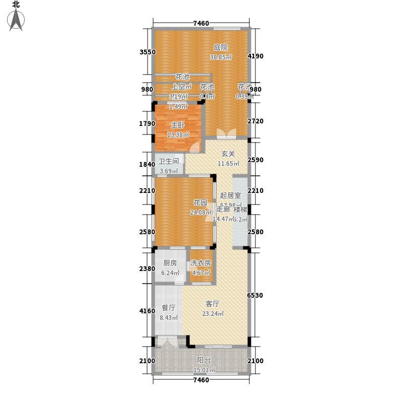 远洋高尔夫国际社区284.00㎡一期13、15栋联排下坡中间联排A户型(共4层) 首层户型5室5厅4卫
