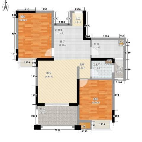 伴山壹品2室0厅1卫1厨89.00㎡户型图