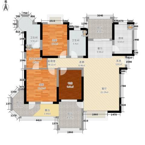 伴山壹品3室0厅2卫1厨133.00㎡户型图