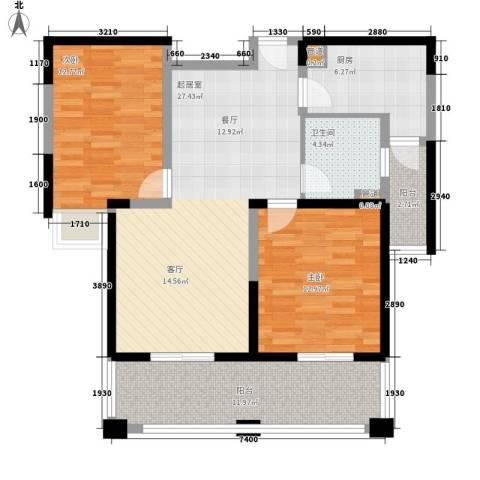 伴山壹品2室0厅1卫1厨90.00㎡户型图
