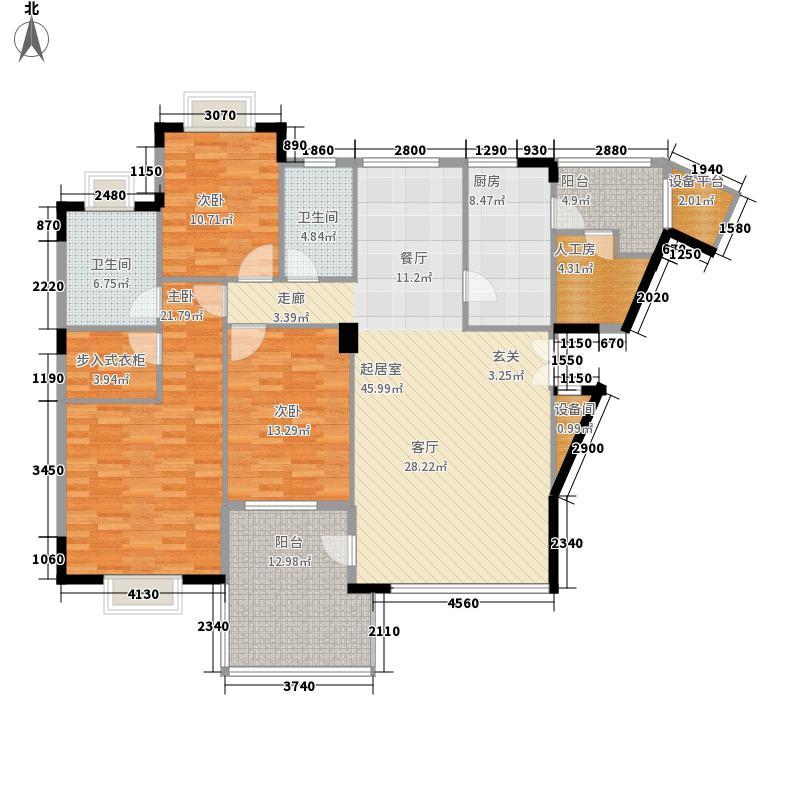 重庆棕榈泉国际花园142.00㎡H型户型