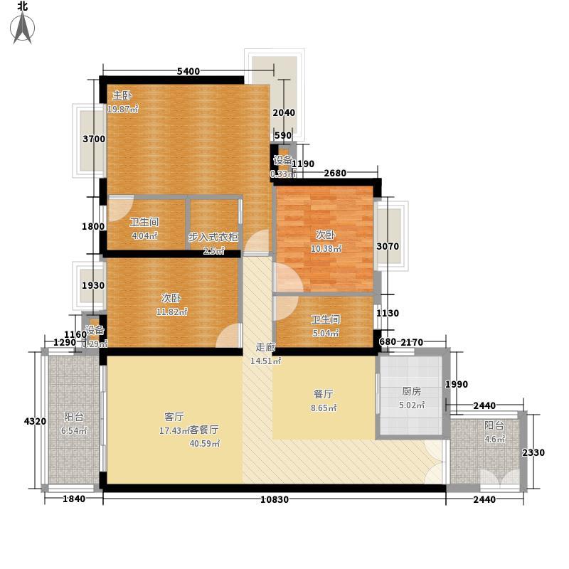 金沙御苑135.00㎡6栋04户型