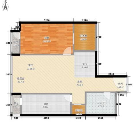 华贸国际公寓1室0厅1卫1厨84.00㎡户型图