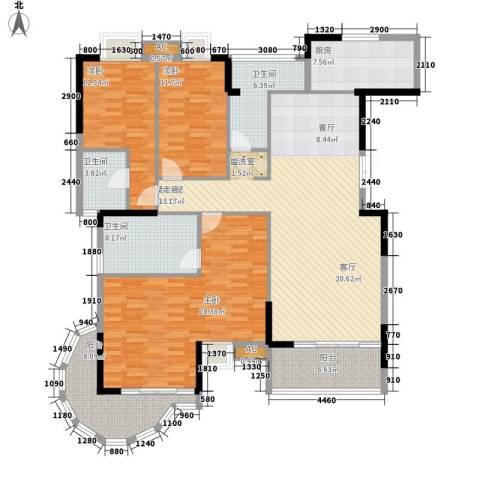 卧龙湾3室0厅3卫1厨162.00㎡户型图