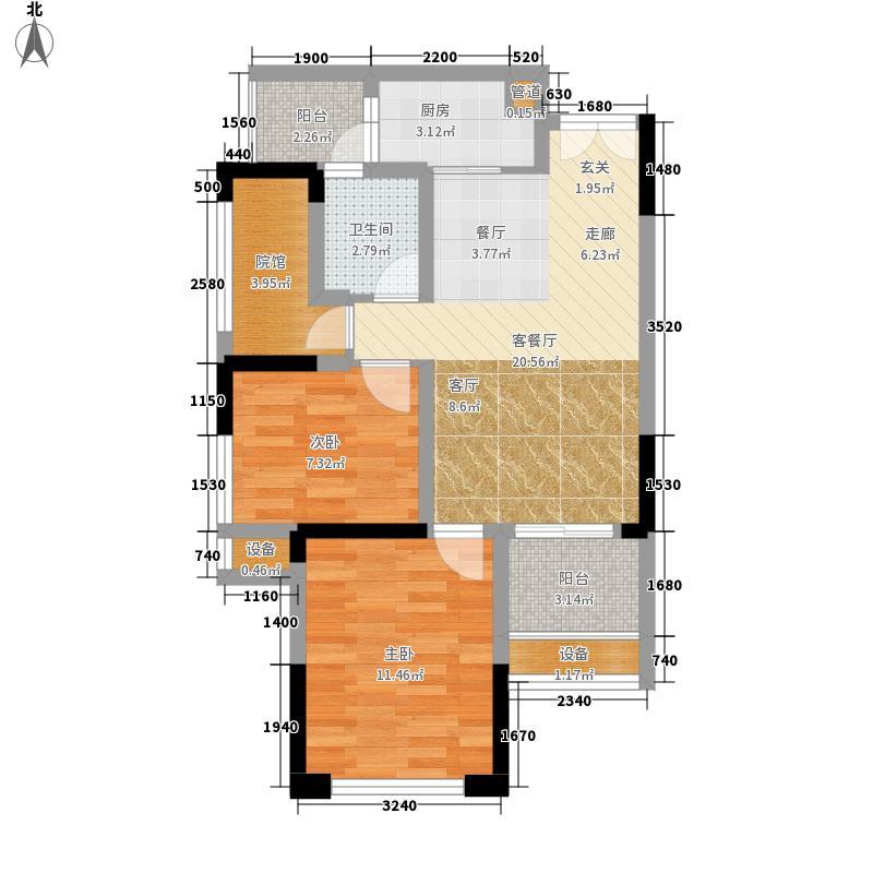 财信城市国际60.39㎡一期9号楼标面积6039m户型