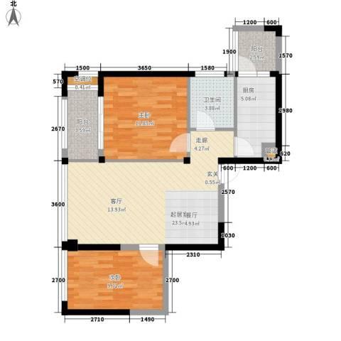 泰悦湾2室0厅1卫1厨82.00㎡户型图
