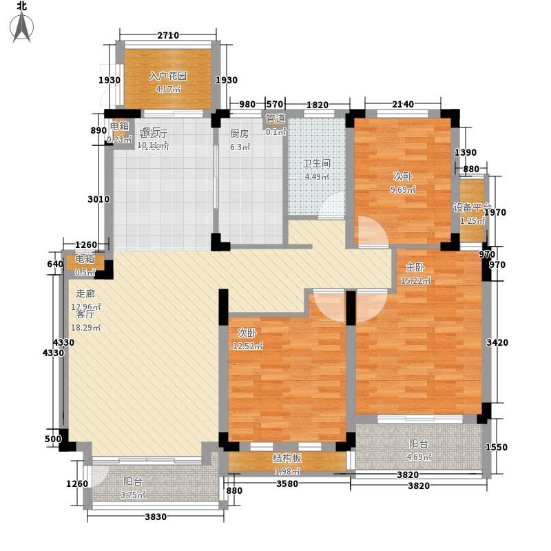 国信世家•璞园洋房K6户型3室2厅