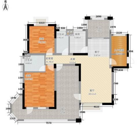 伴山壹品2室0厅2卫1厨127.00㎡户型图